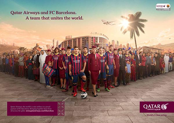 Qatar Airways - Diver y Aguilar - 180 Amsterdam - FC Barcelona